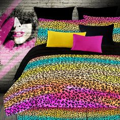 Rainbow Leopard Bedding Street Revival by Veratex