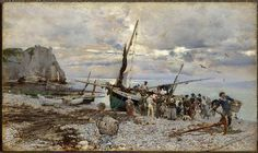 "Giovanni Boldini ""Return of the Fishing Boats, Étretat"""