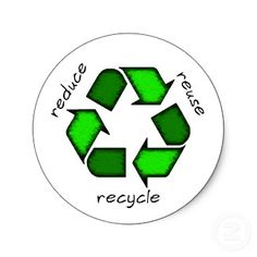 Reduce, Reuse, Recycle Sticker sticker