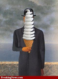margritte humor | Ice Cream Pictures - Strange Pics - Freaking News