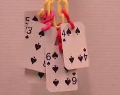 Playing Card Bird Toy - PetDIYs.com