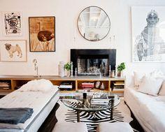 Zebra print rug - Lonny
