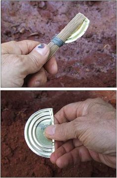 Survival Tools: Uses for a Tin Can. Tutorials on how to make cutting tool. - Survival Tools: Uses for a Tin Can. Tutorials on how to make cutting tool. Survival Gear and Preppi - Survival Life Hacks, Survival Tools, Wilderness Survival, Survival Prepping, Survival Quotes, Survival Stuff, Emergency Preparedness, Survival Items, Tactical Survival