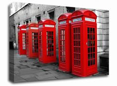 London Red Telephone Boxes cityscapes canvas from only £19.99 at Infusion Art http://www.infusionart.co.uk/products/London-Red-Telephone-Boxes-247534.aspx