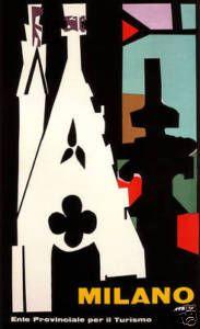 Milano_Italy 1955. vintage travel poster