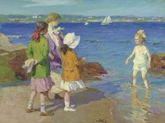 All my sisters. (Artist: Edward Henry Potthast)