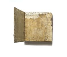 Lawrence Carroll  Untitled, 1987-1988  Oil & wax on canvas on wood  1′ 1/4″ x 1′ x 11″