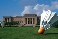 Nelson-Atkins in Kansas City. Claus Oldenburg's sculptures of giant Shuttlecocks grace the lawn.