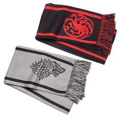kan ein hekle, sy, eller strikke skjerf med symbolet og fargane til spelet i? Game of Thrones Scarves