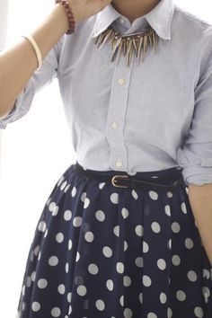 Button ups and skirts.