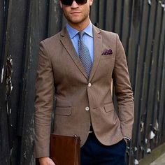 How To Say Hello, Brown Suits, Suit And Tie, Suit Jacket, Blazer, Jackets, Fashion, Bow Tie Suit, Down Jackets