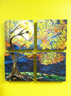 Mosaic Tree Wall Decor - Love this!