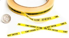 Miniature Crime Scene Tape For When Youre Bored At Work