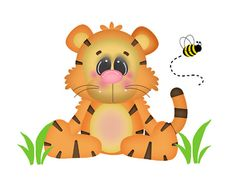 Safari Tiger Wall Mural for baby girl or boy nursery or any children's jungle animal room decor #decampstudios