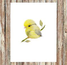 Hey, I found this really awesome Etsy listing at https://www.etsy.com/listing/246297327/bird-prints-canary-bird-yellow-canary