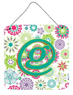 Letter G Flowers Pink Teal Green Initial Wall or Door Hanging Prints CJ2011-GDS66