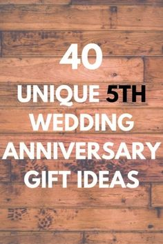 5Th Wedding Anniversary Gift Ideas For Men