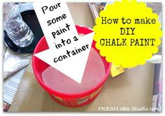 Theresa shares her recipe she's used for years to make DIY chalk paint  @  her Fresh Idea Studio blog :: Hometalk
