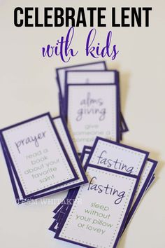 Celebrate Lent with kids and free printables :) by @kwhitaker96
