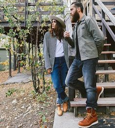 """crawford-denim: """"Big Bear Lake with + captured by Styling """" Red Wing Boots, Botas Red Wing, Brown Boots Outfit, Red Wing Heritage Boots, Estilo Hipster, Hipster Jeans, Mens Lace Up Boots, Jeans And Boots, Stylish Couple"""