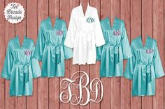 Get Ready in comfort and Style in these Satin Kimono Robes! Your Bridesmaids will love them! ♥You are Purchasing 1-5 Robes, Purchase 6 or more