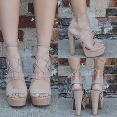 Open Toe Strappy Self Tie Lace Up Heels Gala-04
