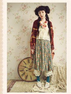pattern mixing | mori girl style #mori, #morikei, #forestgirl