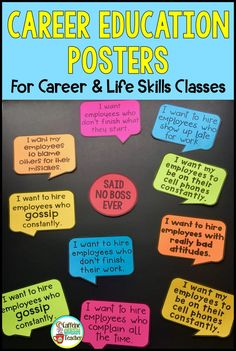 plakat Career Education Posters for Career Exploration Classes Career Bulletin Boards, Classroom Bulletin Boards, Classroom Decor, Classroom Displays Secondary, Career Counseling, Career Education, Education Posters, Education System, Education Quotes