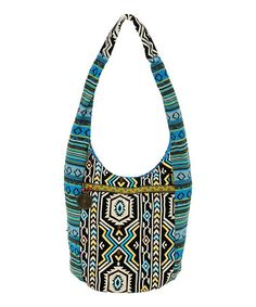 Take a look at this Blue & Green Tribal Marrakech Hobo by Catori on #zulily today!