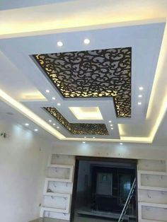 6 Spiritual Cool Tips: False Ceiling Design For Showroom false ceiling hall benches.False Ceiling Ideas Projects false ceiling with wood lighting.False Ceiling Design For Balcony. Gypsum Ceiling Design, House Ceiling Design, Ceiling Design Living Room, False Ceiling Living Room, Bedroom False Ceiling Design, Ceiling Decor, Ceiling Lights, Fall Celling Design, Fall Ceiling Designs Bedroom