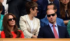 Catherine and Prince William, Duchess and Duke of Cambridge a Wimbledon. July 8, 2015.