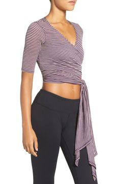 This soft knit Free People crop top is the perfect layer for dance or yoga class!