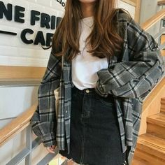 Indie Outfits, Grunge Outfits, Lazy Outfits, Cute Casual Outfits, Summer Outfits, Grunge Shoes, Flannel Outfits, Plaid Fall Outfits, Sweater Outfits