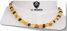 Ariz Products www.arizproducts.com Baltic Amber Teething Necklace, Teething Beads, Baby Teething, Natural Pain Relief, Amber Jewelry, Beaded Bracelets, Necklaces, New Trends, The Originals