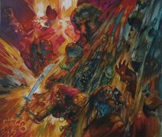 Magic Art of the Day - Earthquake by Richard Kane Ferguson - Check out the owner's gallery: