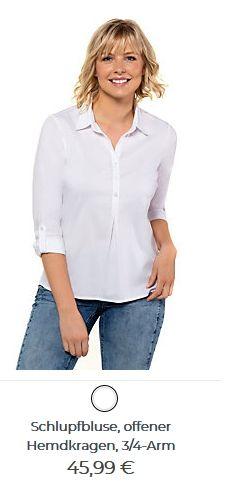 Damen Schlupfbluse mit offenem Hemdkragen Tops, Women, Fashion, Shirt Collars, Moda, Fashion Styles, Fashion Illustrations, Woman