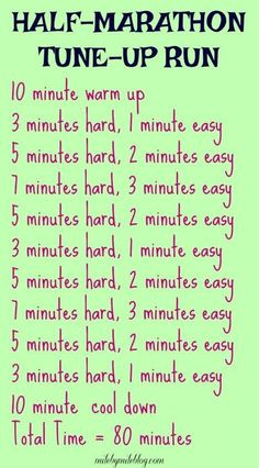 Get ready for a half #marathon by following this workout!