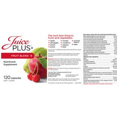 Juice Plus+ Orchard and Garden Blend provides added whole food based nutrition made from fresh, high-quality, healthful fruits and vegetables.