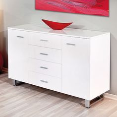 Ailee Modern Sideboards In High Gloss White