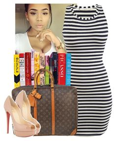 """Read me "" by trillest-queen ❤ liked on Polyvore featuring Louis Vuitton and Christian Louboutin"