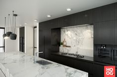 Coastal Home Interior .Coastal Home Interior Modern Kitchen Design, Interior Design Kitchen, Black Kitchens, Home Kitchens, Kitchen Living, Kitchen Decor, Granite Kitchen Sinks, Cuisines Design, Home Interior
