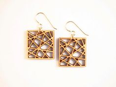 City Square Laser Cut Earrings by foliadesignsf on