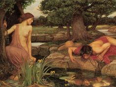 I love the paintings of Waterhouse. Narcissus and Echo is probably my favorite