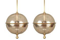 Globe Pendant Light, Pendant Light Fixtures, Glass Globe, Pendants, Ceiling Lights, Contemporary, Pendant Lights, Trailers, Ceiling Light Fixtures