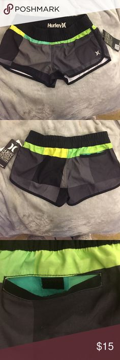 BNWT Hurley boardshorts BNWT Hurley boardshorts or coverup shorts. I even wear them like regular shorts. Cute colors. Perfect for spring break. Have H on front of bottom as shorts. Back pocket. Size xs. Hurley Swim Coverups