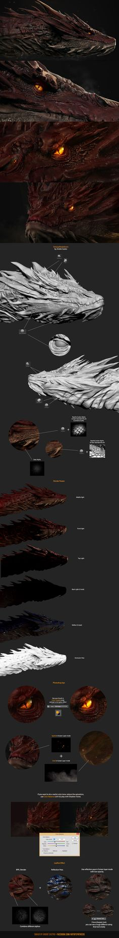 Smaug Breakdown by synthesys.deviantart.com on @DeviantArt