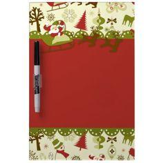 Santa Christmas Delivery Dry-Erase Whiteboard