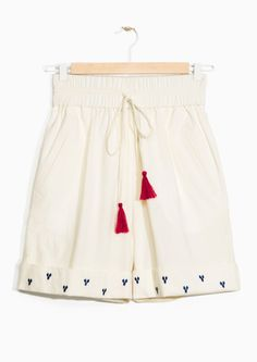 & Other Stories image 1 of TOMS Embroidered Shorts  in Off White