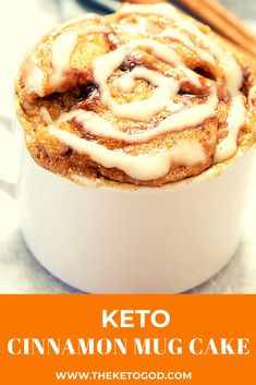 9 Delicious Keto Mug Cake Recipes - The Keto God Next to Keto Cinnamon Rolls, the Keto Cinnamon mug cake is the best Keto dessert option if you want to have that sweet woody spice taste. Cake Mug, Lemon Mug Cake, Vanilla Keto Mug Cake, Paleo Mug Cake, Chocolate Chip Mug Cake, Keto Chocolate Chips, Desserts Keto, Health Desserts, Keto Snacks