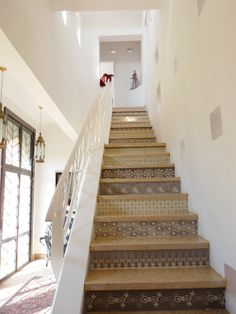 Hand-Painted Moroccon Stairs